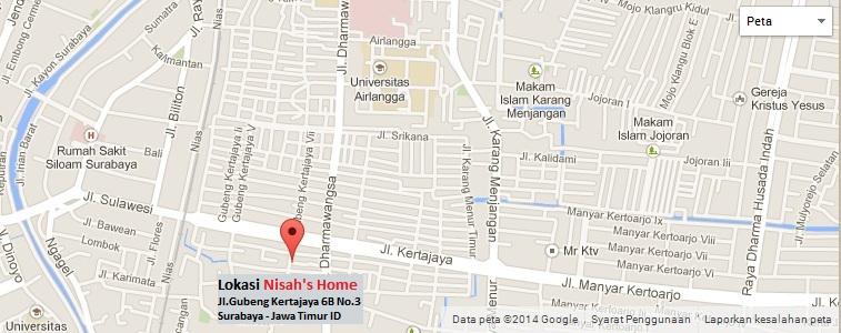 Lokasi Nisah's Home Jl.Gubeng Kertajaya 6B No.3 Surabaya