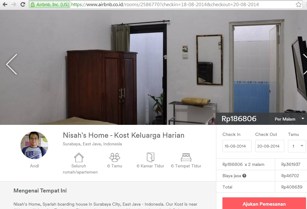 Booking Online NH via AirBnB