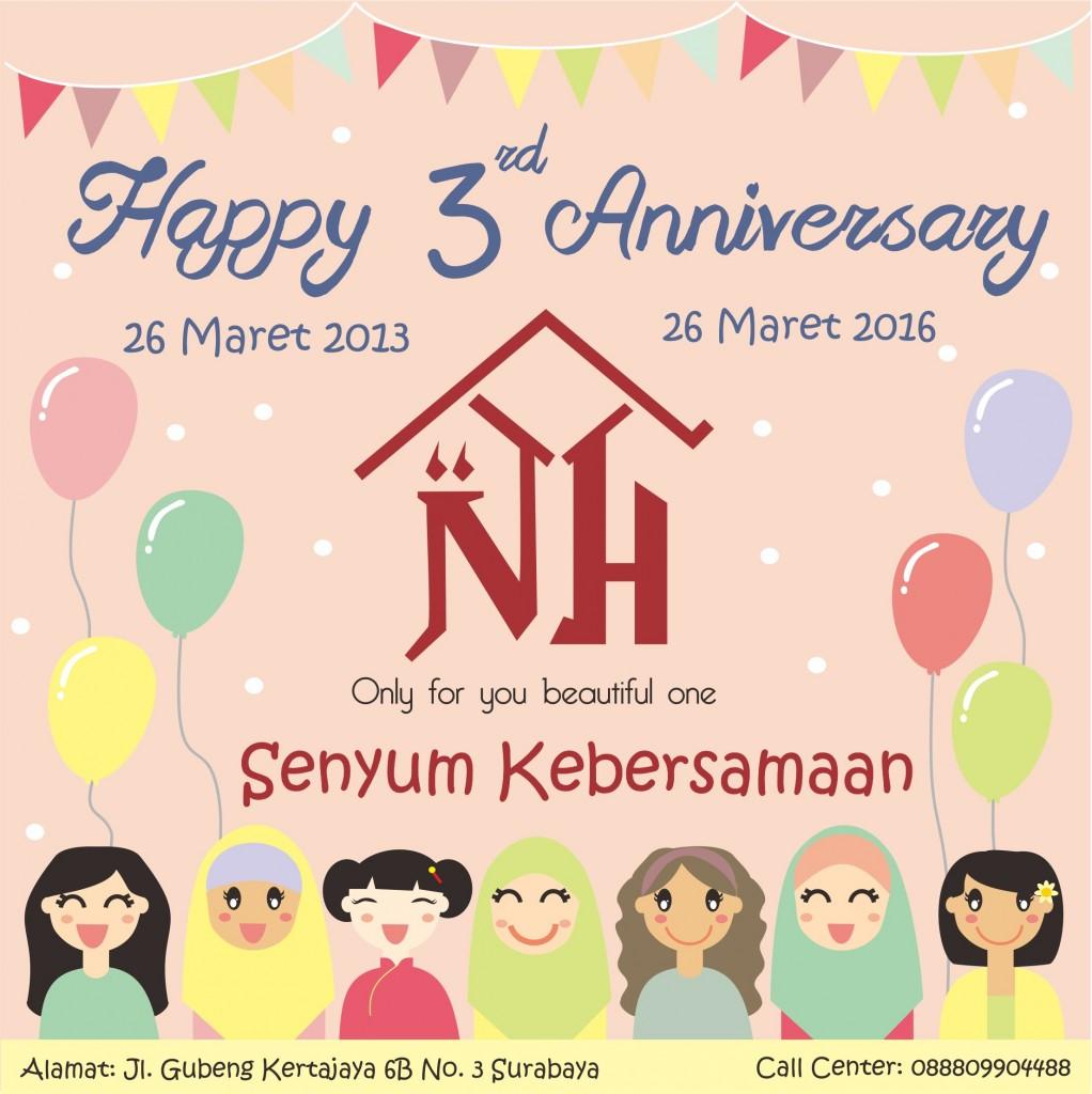 NISAH'S HOME RAYAKAN ULANG TAHUN KE-3