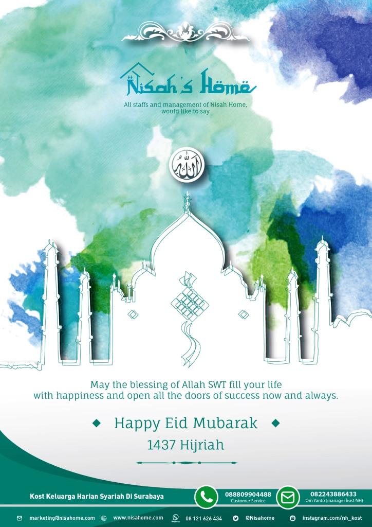Nisahome - e-Card Selamat Hari Raya Idul Fitri 1437 H