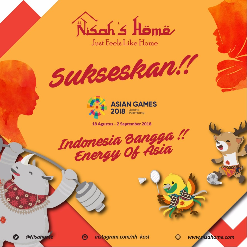 Nisahome Dukung Asian Games 2018
